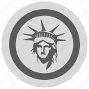 fire, liberty, light, round, usa icon
