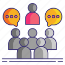 politics, discussion, chat, lobby icon