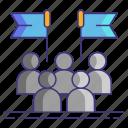 politics, group, slate icon