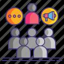 politics, group, stump icon