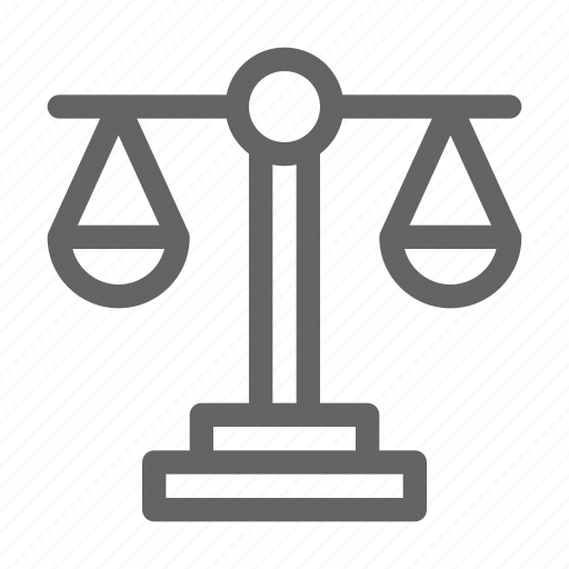 equal, justice, law, scale icon