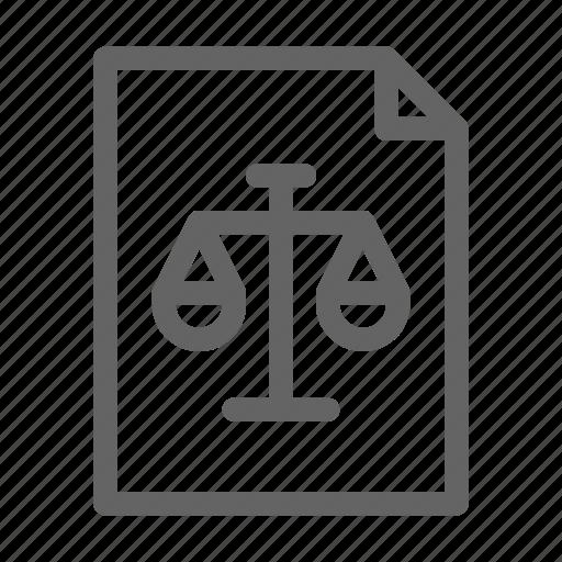 file, guide, law, legal icon