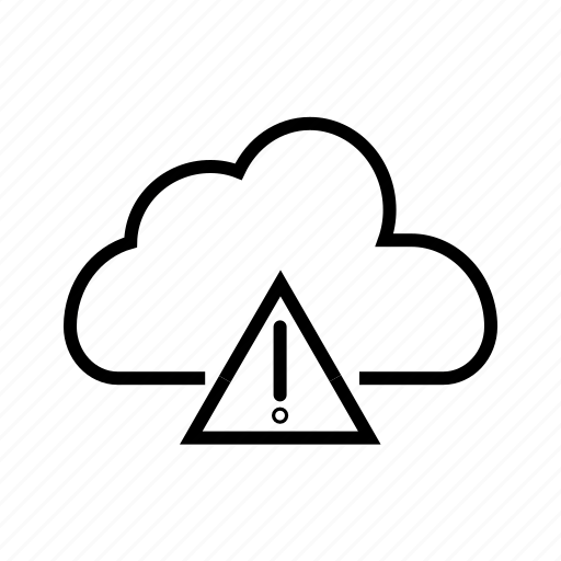 air pollution, atmosphere, carbon dioxide, caution, cloud warning, emission icon