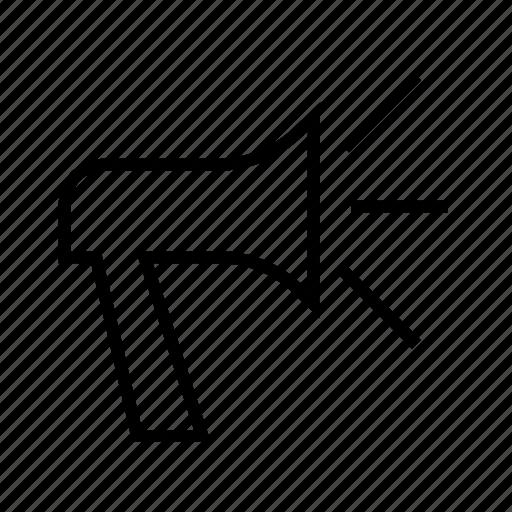 bull horn, loud speaker, noise pollution, sound horn icon