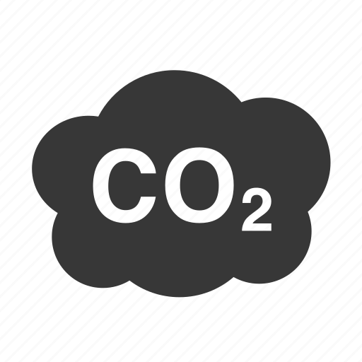 co2 cloud, pollution, raw, simple, waste icon