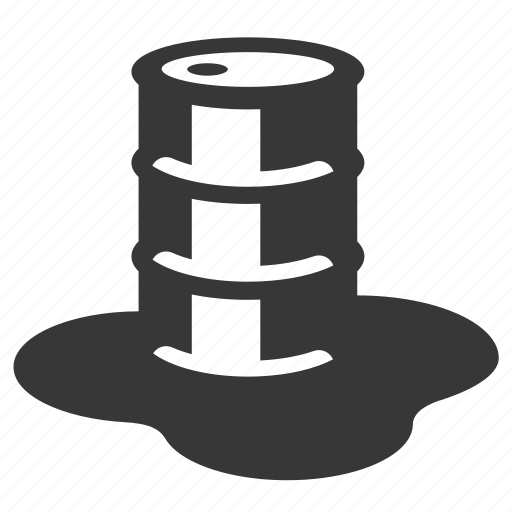 leaking barrel, oil barrel, pollution, raw, simple, waste icon