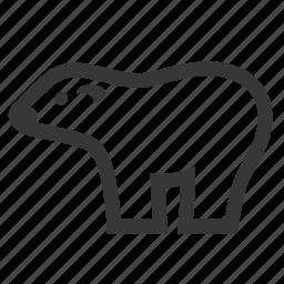 extinction, polar bear, pollution, raw, simple, waste icon