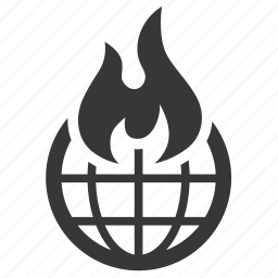 pollution, raw, simple, waste, world on fire icon