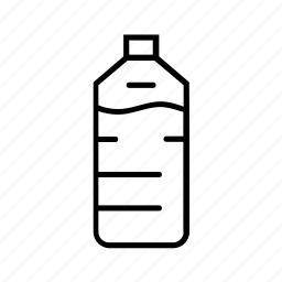 bottle, drink, plastic bottle, pollution, recyclables, water, water bottle icon