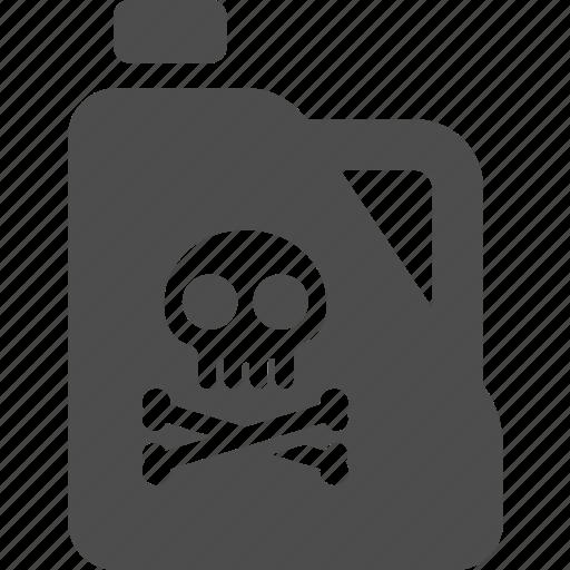 gas, oil, poison, pollution, refill, skull, tank icon