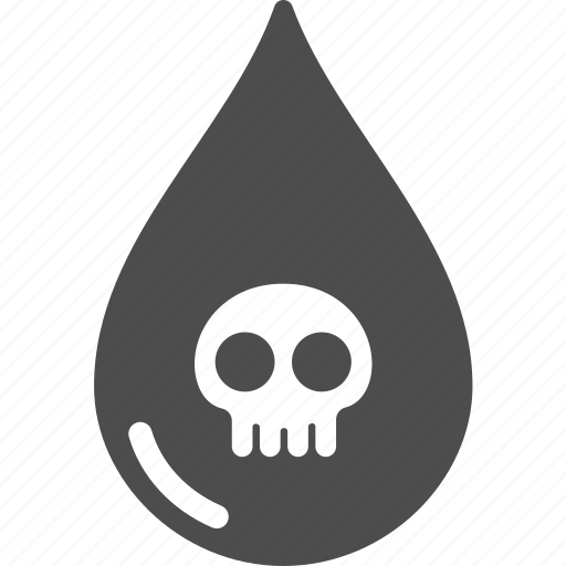 fuel, oil, poison, skull, water icon