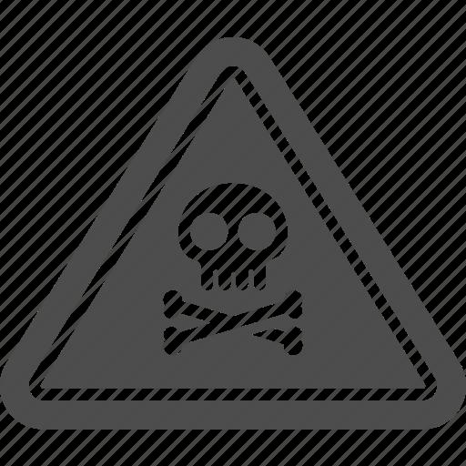 dangerous, poison, pollution, sign, skull icon