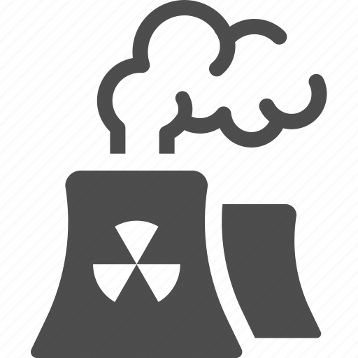 factory, nuclear, plant, pollution, radioactive, smoke icon