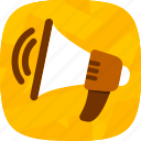 alert, announcement, communication, talk icon