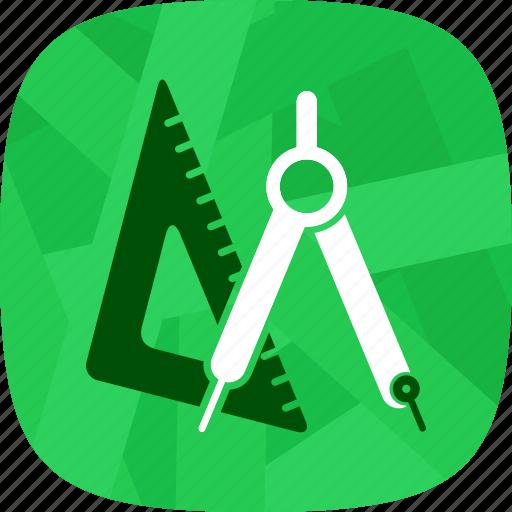 architecture, measurement, precision icon