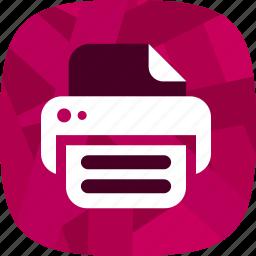 print, print document icon