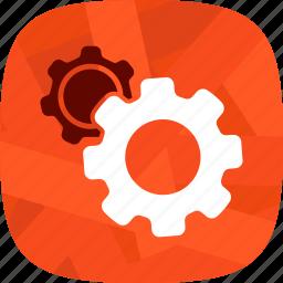 development, engine, gears, settings icon