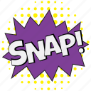 snap, snap bubble, snap comic bubble, snap dialogue bubble, snap speech bubble icon