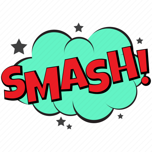 celebration comic bubble party text comic smash smash bubble