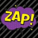 destruction emoticon bubble, zap, zap balloon, zap comic bubble, zap speech bubble icon