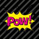 blow expression, pow, pow acronym, pow comic bubble, pow slang icon