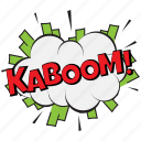 kaboom, kaboom bubble, kaboom comic, kaboom pop art bubble, kaboom thought bubble icon