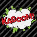 kaboom, kaboom bubble, kaboom comic, kaboom pop art bubble, kaboom thought bubble icon