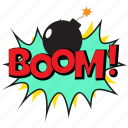 boom, boom bubble, boom comic bubble, boom expression, explosion bubble icon