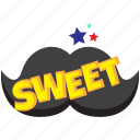 sweet, sweet comic bubble, sweet message bubble, sweet pop bubble, sweet speech bubble icon