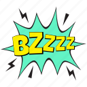 bzzz pop art, bzzzz, bzzzz comic art, excitement bubble, exhilaration pop bubble icon