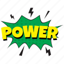 power, power comic art, power comment bubble, power emoticon bubble, power speech bubble icon