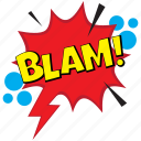 blam, blam comic bubble, blam pop art, blam pop balloon, gunshot comic bubble icon