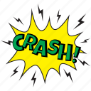 crash, crash bubble, crash comic bubble, crash message bubble, hitting symbol icon