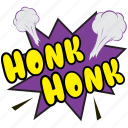 honk honk, honk honk bubble, honk honk comic art icon