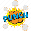 fist strike sound, punch, punch bubble, punch comic bubble, punch pop art icon