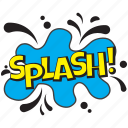 splash, splash balloon, splash comic bubble, splash message bubble, splash theme icon