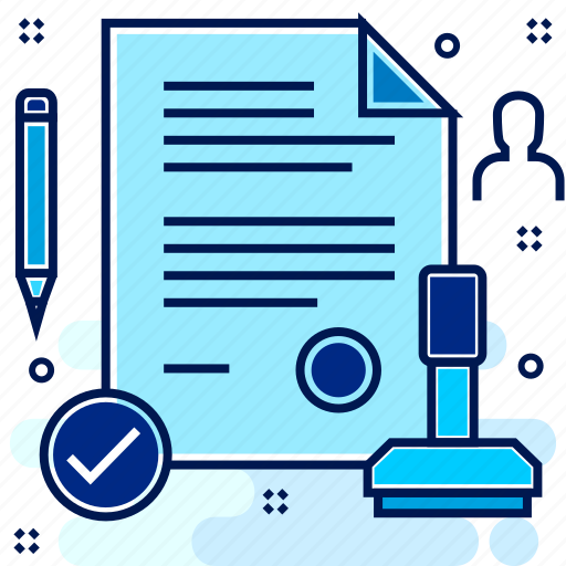agreement, confirmation, contract, deal, stamp, stamping icon