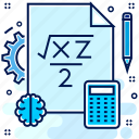practive, calculator, mathemetics, rule, math icon