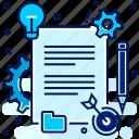 concept, content, details, flow, idea, setting icon