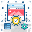 firewall, website, page, antivirus, secure icon