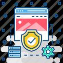 antivirus, firewall, page, secure, website