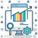 analytics, graph, monitoring, report, seo icon