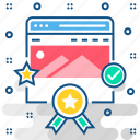 best, page, quality, rank, seo, top icon