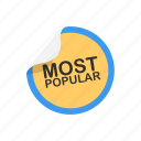 badge, best seller, most popular, tag icon
