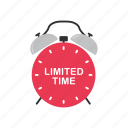 clock, ecommerce, limited time, shopping icon