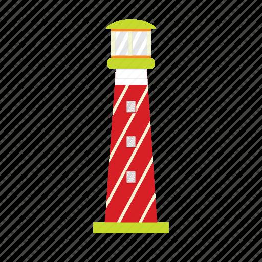 beach, building, island, lamp, light, lighthouse, sun icon