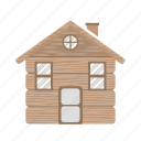 building, freez, home, house, snow, wood icon