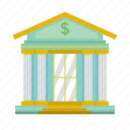 bank, building, dollar, gold, money, saving, valueable icon