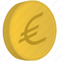 money, coin, bank, cent, euro icon