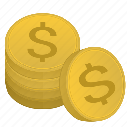 bank, coin, dollar, metal, stack, usd icon